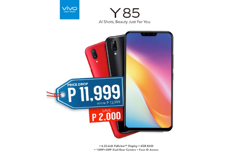 Get the Vivo Y85 now for only Php11,999