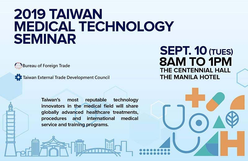 New medical solutions for Filipinos to be showcased at the 2019 Taiwan Medical Technology Seminar