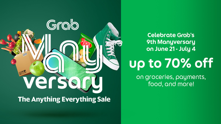 Everyone is invited on Grab's 9th birthday with Manyversary with their Anything and Everything Sale