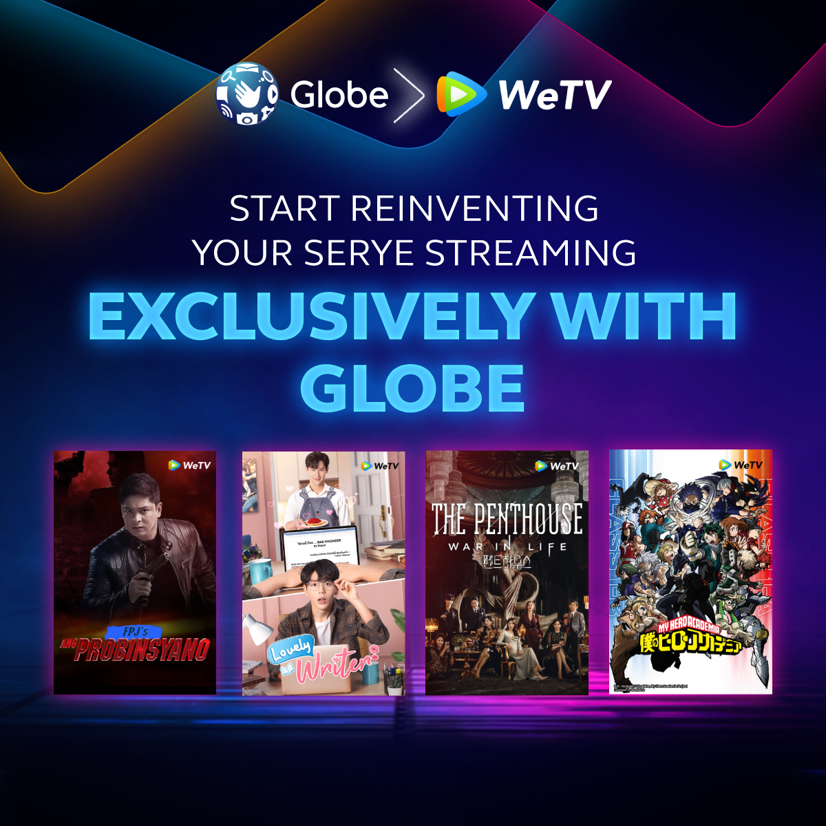 WeTV Chooses Globe as First Philippine Telco Partner to Bring Exclusive Asian Content